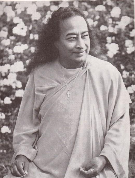 Yogananda with cross