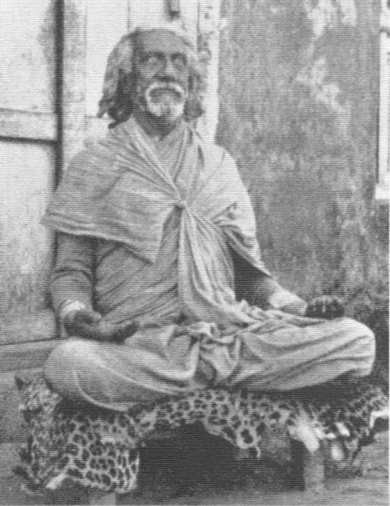 Sri Yukteswar in open eyes meditation