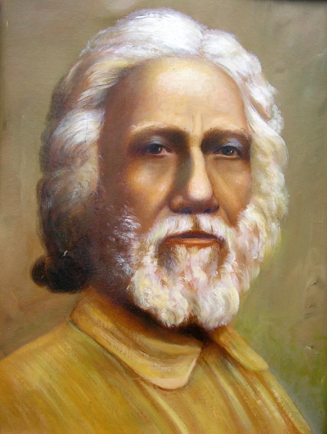 Jāņa Praisa gleznotais Šri Juktešvara portrets