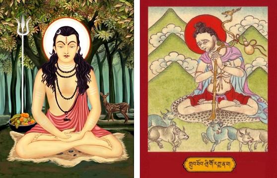 Gorakshas indiešu un tibetiešu ikonas